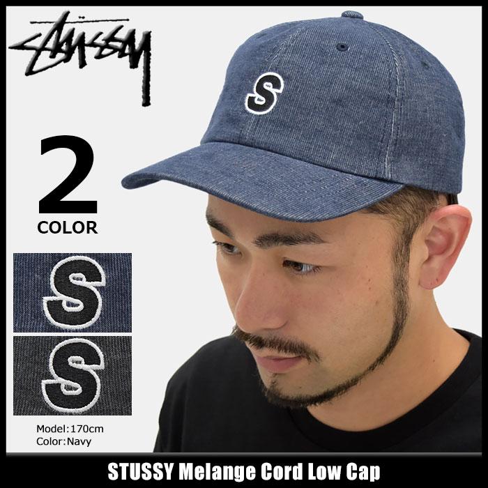 ステューシー STUSSY キャップ 帽子 Melange Cord Low Cap(ローキャップ ストラップバック メンズ・男性用 131717 USAモデル 正規 品 ストゥーシー スチューシー) ice filed icefield