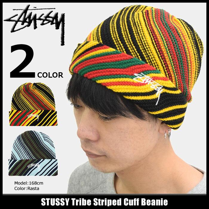 ステューシー STUSSY ニット帽 Tribe Striped Cuff(stussy beanie ビーニー 帽子 ニットキャップ メンズ・男性用 132860 USAモデル 正規 品 ストゥーシー スチューシー)