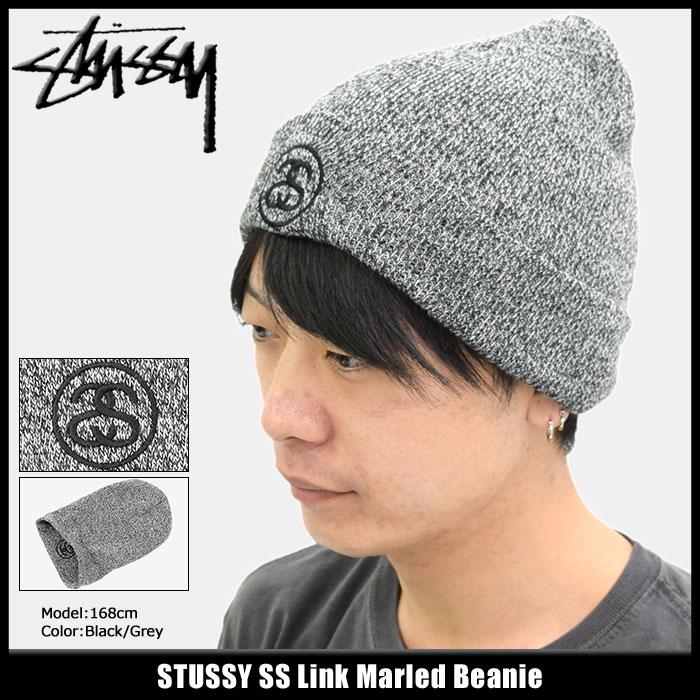 ステューシー STUSSY ニット帽 SS Link Marled(stussy beanie ビーニー 帽子 ニットキャップ メンズ・男性用 132857 USAモデル 正規 品 ストゥーシー スチューシー) ice filed icefield