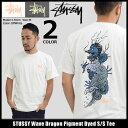 ステューシー STUSSY Tシャツ 半袖 メンズ Wave Dragon Pigment Dyed(stussy tシャツ tee ティーシャツ T-SHIRTS カッ…