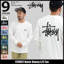 【11/23入荷予定】ステューシー STUSSY Tシャツ 長袖 メンズ Basic Stussy(stussy tee ティーシャツ T-SHIRTS カット…