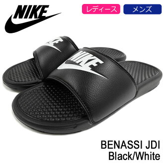 Nike NIKE Sandals Benassi JDI Black/White men (men's) (nike BENASSI JDI Black/White 343880-090) ice filed icefield