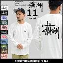 ステューシー STUSSY Tシャツ 長袖 メンズ Basic Stussy(stussy tee ティーシャツ T-SHIRTS カットソー トップス ロング...