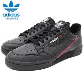 アディダス adidas スニーカー メンズ 男性用 コンチネンタル 80 Core Black/Scarlet/College Navy オリジナルス ( adidas CONTINENTAL 80 Originals ブラック 黒 SNEAKER MENS・靴 シューズ SHOES B41672 )