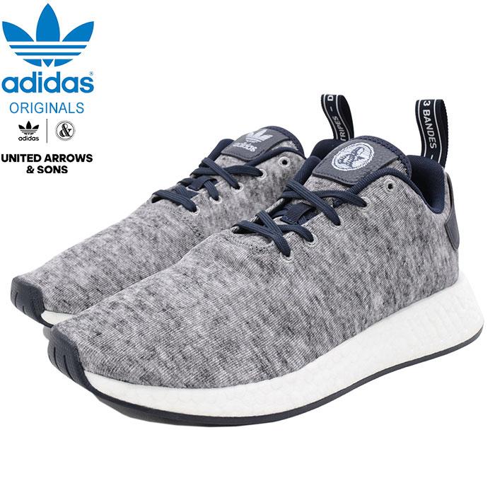 アディダス adidas スニーカー メンズ 男性用 ユナイテッド アローズ アンド サンズ ノマド R2 UAS Core Heather/Matte Silver/White コラボ オリジナルス(UNITED ARROWS & SONS NMD R2 UAS Originals グレー 灰 MENS・靴 シューズ SHOES DA8834)