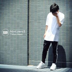 エイチティエムエル ゼロスリー HTML ZERO3 Tシャツ 半袖 メンズ オン ブラック ビッグ(html zero3 On Black Big S/S Tee ビッグシルエット オーバーサイズ ティーシャツ T-SHIRTS カットソー トップス エイチティーエムエル HTML-CT216)[M便 1/1]