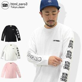 エイチティエムエル ゼロスリー HTML ZERO3 Tシャツ 長袖 メンズ ブリンク クレスト(html zero3 Blink Crest L/S Tee ティーシャツ T-SHIRTS カットソー トップス ロング ロンティー ロンt エイチティーエムエル)