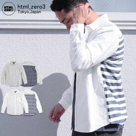 エイチティエムエル ゼロスリー HTML ZERO3 シャツ 長袖 メンズ オービット バース(html zero3 Orbit Verse L/S Shirt カジュアルシャツ トップス エイチティーエムエル HTML-SHT129)