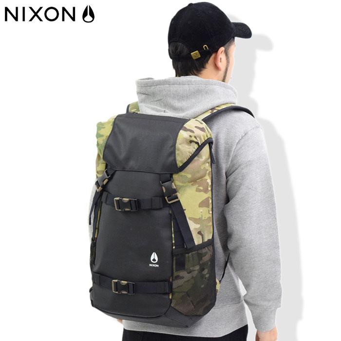 ニクソン nixon リュック ランドロック 3 バックパック ブラック/オリーブカモ(nixon Landlock III Backpack Black/Olive Camo Bag バッグ Daypack デイパック 普段使い 通勤 通学 旅行 メンズ レディース ユニセックス 男女兼用 NC28132865)