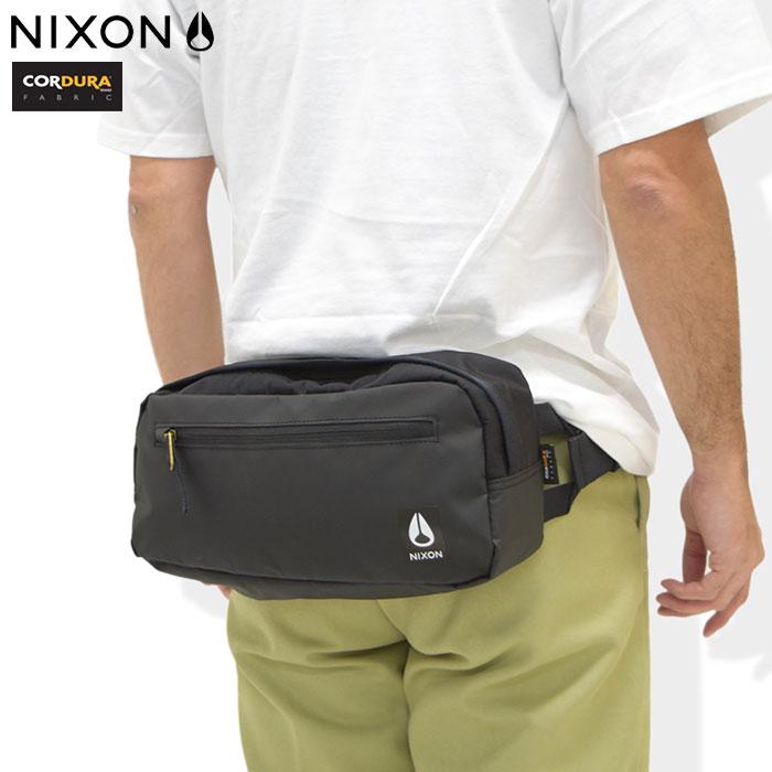 ニクソン nixon ウエストバッグ ファウンテン 3 コーデュラ スリング ブラック/ブラック(nixon Fountain III Cordura Sling Waist Bag Black/Black ウエストポーチ ヒップバッグ ボディバッグ BAG バッグ メンズ レディース 男女兼用 NC28161148)