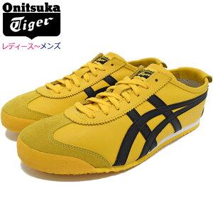 オニツカタイガーOnitsukaTigerスニーカーレディース&メンズメキシコ66Yellow/Black(OnitsukaTigerMEXICO66イエロー黄SNEAKERLADIESMENS・靴シューズSHOESDL408-0490)icefiledicefield
