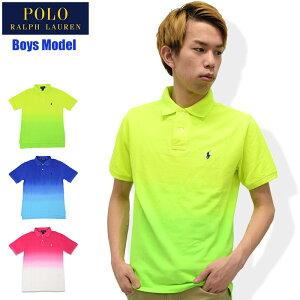 スーパーセール開催!ポロラルフローレンPOLORALPHLAURENポロシャツ半袖ボーイズモデルレディース・メンズ対応サイズグラデーションコットン(ralphlaurenPoloトップスポロ・シャツ323605589)