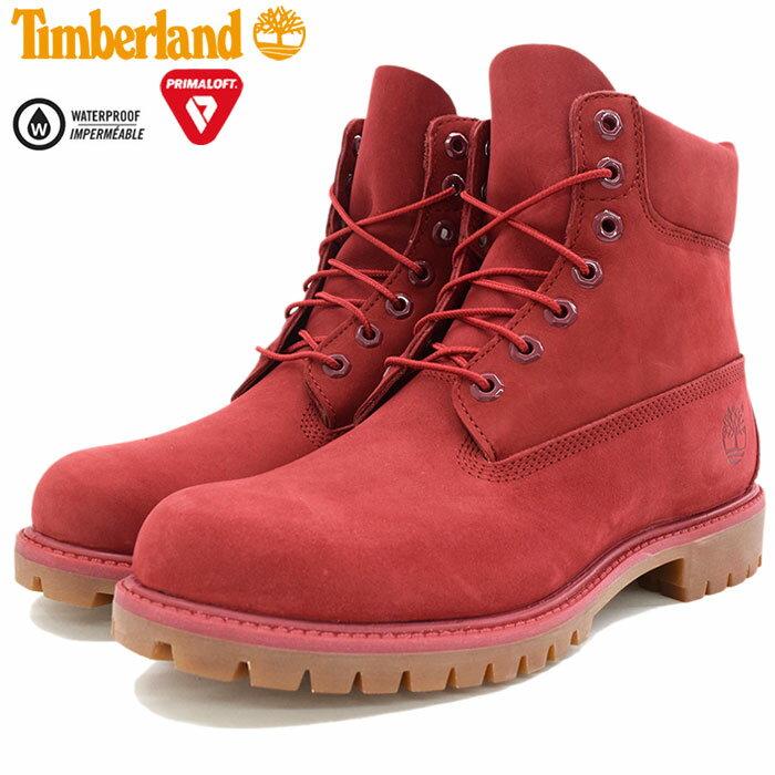 【日本正規品】ティンバーランド Timberland ブーツ メンズ 男性用 アイコン 6インチ プレミアム Red Nubuck Monochromatic(timberland A1149 ICON 6inch Premium Boot レッド 赤 防水 男性 紳士用 MENS・靴 メンズ靴)
