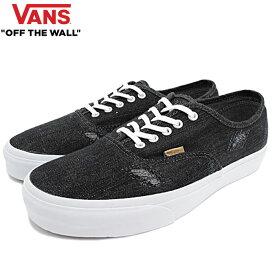 バンズ VANS スニーカー メンズ 男性用 オーセンティック CA Black/White デニムステッチ(vans VN-0ZUIHUC Authentic CA Denim Stitch ローカット ブラック SNEAKER MENS・靴 シューズ SHOES ヴァンズ)