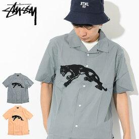 ステューシー STUSSY シャツ 半袖 メンズ Panther ( stussy shirt オープンカラーシャツ カジュアルシャツ トップス メンズ 男性用 111974 USAモデル 正規 品 ストゥーシー スチューシー )