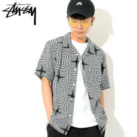 ステューシー STUSSY シャツ 半袖 メンズ Psychedelic Checker ( stussy shirt オープンカラーシャツ カジュアルシャツ トップス メンズ 男性用 111984 USAモデル 正規 品 ストゥーシー スチューシー )