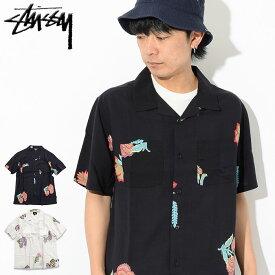ステューシー STUSSY シャツ 半袖 メンズ Hana Printed ( stussy shirt オープンカラーシャツ カジュアルシャツ トップス メンズ 男性用 111987 USAモデル 正規 品 ストゥーシー スチューシー )