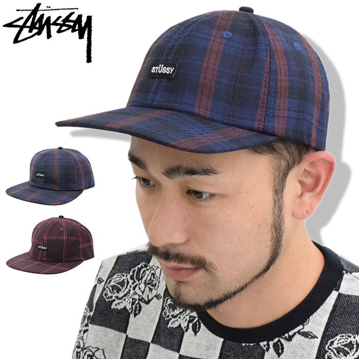 ステューシー STUSSY キャップ 帽子 Plaid Strapback Cap(ストラップバック メンズ・男性用 131732 USAモデル 正規 品 ストゥーシー スチューシー)