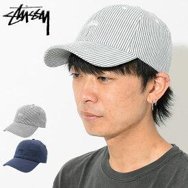 ステューシー STUSSY キャップ 帽子 Seersucker Low Pro Cap(ローキャップ ストラップバック メンズ・男性用 131800 USAモデル 正規 品 ストゥーシー スチューシー)