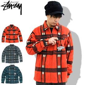 ステューシー STUSSY ジャケット メンズ Polar Fleece Zip Up Shirt(stussy JKT フルジップ シャツジャケット JACKET JAKET アウター ジャンパー・ブルゾン メンズ・男性用 111957 USAモデル 正規 品 ストゥーシー スチューシー)