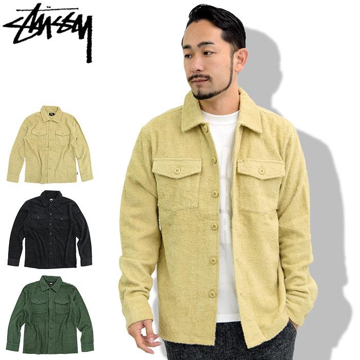 ステューシー STUSSY ジャケット メンズ Long Terry BDU Shirt(stussy JKT シャツジャケット JACKET JAKET アウター ジャンパー・ブルゾン メンズ・男性用 1140013 USAモデル 正規 品 ストゥーシー スチューシー)