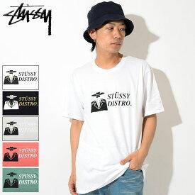 ステューシー STUSSY Tシャツ 半袖 メンズ Distro ( stussy tee ティーシャツ T-SHIRTS カットソー トップス メンズ・男性用 1904224 USAモデル 正規 品 ストゥーシー スチューシー )[M便 1/1]