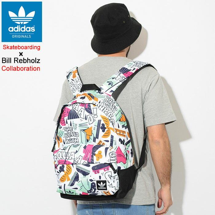 アディダス adidas リュック ビル レブホルツ バックパック コラボ オリジナルス(adidas×Bill Rebholz Backpack Originals Skateboarding スケートボーディング Bag バッグ Daypack デイパック 普段使い 通勤 通学 旅行 メンズ レディース ユニセックス 男女兼用 DU8294)