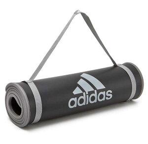 アディダスadidasトレーニングマットロゴ(adidasLogoTrainingMat長さ183cm幅61cm厚さ10mmヨガマット運動不足解消ダイエットグッズ運動自宅室内トレーニングフィットネスADMT-12235)