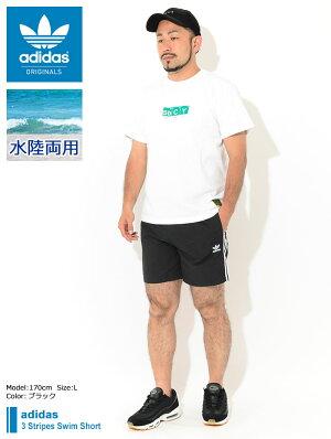 アディダスadidas水着メンズ3ストライプススイムショーツオリジナルス(adidas3StripesSwimShortOriginalsスウィムショーツショートパンツスイムウェア海パンショーツトランクボトムスメンズ男性用GN3523)[M便1/1]icefieldicefield
