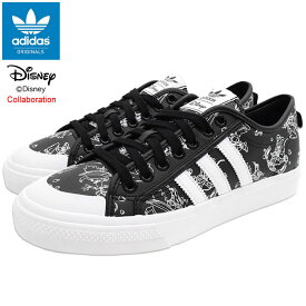 アディダス adidas スニーカー メンズ 男性用 ディズニー ニッツァ スポーツ グーフィー Core Black/Footwear White コラボ オリジナルス ( adidas×Disney NIZZA SPORT GOOFY Originals SNEAKER MENS・靴 シューズ SHOES FW9590 )