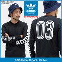 アディダス adidas Tシャツ 長袖 メンズ サット スクール オリジナルス(adidas Sat School L/S Tee Originals Skatebo…