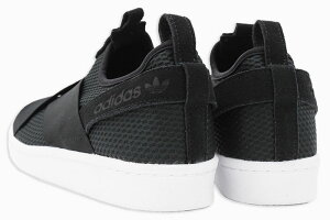 アディダスadidasスニーカーレディース&メンズウィメンズスーパースタースリッポンCoreBlack/RunningWhiteオリジナルス(adidasWOMENSSUPERSTARSLIPONOriginalsSSSlipOnWSlipOnブラック黒SNEAKERLADIESMENS・靴シューズSHOESB37193)