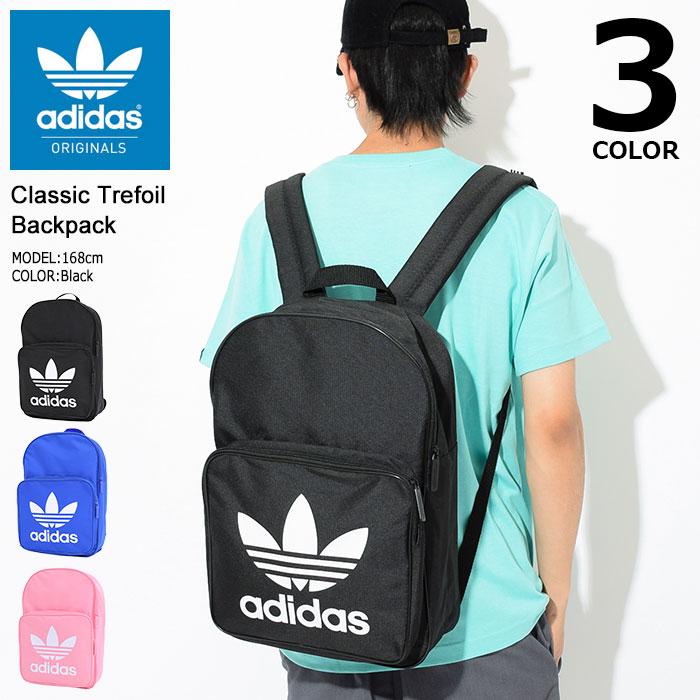 アディダス adidas リュック クラシック トレフォイル バックパック(adidas Classic Trefoil Backpack Originals Bag バッグ Daypack デイパック 普段使い 通勤 通学 旅行 メンズ レディース ユニセックス 男女兼用 DJ2170 DJ2172 DJ2173)