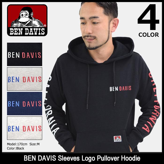ベンデイビス BEN DAVIS プルオーバー パーカー メンズ スリーブス ロゴ(BENDAVIS M-7780040 Sleeves Logo Pullover Hoodie フード フーディ Pull Over Hoody Parker トップス ベン デイビス ベン・デイビス ベンデービス) ice filed icefield