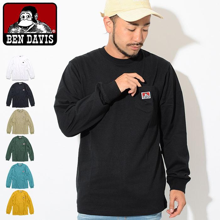 ベンデイビス BEN DAVIS Tシャツ 長袖 メンズ ポケット(BENDAVIS C-8780000 Pocket L/S Tee ティーシャツ T-SHIRTS カットソー トップス ロング ロンティー ロンt ベン デイビス ベン・デイビス ベンデービス)