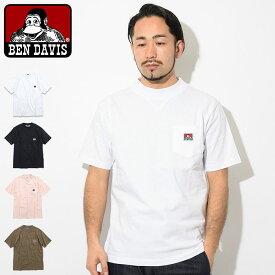 ベンデイビス BEN DAVIS Tシャツ 半袖 メンズ モックネック(BENDAVIS C-9580003 Mock Neck S/S Tee ポケット ティーシャツ T-SHIRTS カットソー トップス ベン・デイビス ベンデービス)[M便 1/1]