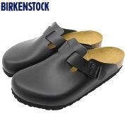 ビルケンシュトックBIRKENSTOCKサンダルメンズ男性用ボストンナチュラルレザーBlack(birkenstockBOSTONNATURALLEATHERクロッグサボ本革幅広ノーマルレギュラーブラック黒SANDALMENS・靴シューズSHOES60191)
