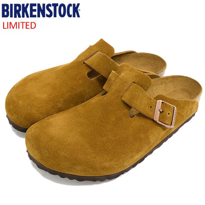 ビルケンシュトック BIRKENSTOCK サンダル メンズ 男性用 ボストン スエード レザー Brown 限定(birkenstock BOSTON SUEDE LEATHER クロッグ スウェード 本革 幅広 ノーマル レギュラー ブラウン 茶 SANDAL MENS・靴 シューズ SHOES GC060401)