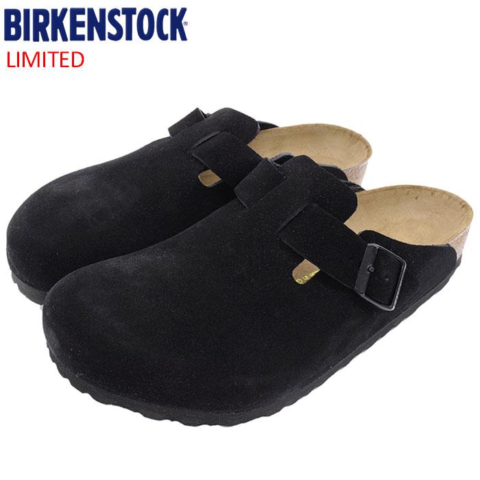 ビルケンシュトック BIRKENSTOCK サンダル メンズ 男性用 ボストン スエード レザー Black 限定(birkenstock BOSTON SUEDE LEATHER クロッグ スウェード 本革 幅広 ノーマル レギュラー ブラック 黒 SANDAL MENS・靴 シューズ SHOES GC060491)