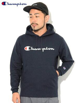 チャンピオンChampionプルオーバーパーカーメンズC3-Q102(ChampionC3-Q102PulloverHoodieBASICベーシック日本企画ワンポイントCロゴCマークフードフーディスウェットシャツトップスPullOverHoodyParkerメンズ男性用)