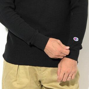 チャンピオンChampionカットソー長袖メンズC3-Q405サーマル(ChampionC3-Q405ThermalL/SCrewBASICベーシック日本企画無地ワンポイントCロゴCマークティーシャツT-SHIRTSトップスメンズ男性用)