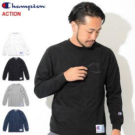 チャンピオン Champion Tシャツ 長袖 メンズ C3-L422 ( Champion C3-L422 L/S Tee ACTION アクション 日本企画 無地 ワンポイント Cロゴ Cマーク ティーシャツ T-SHIRTS カットソー トップス ロング ロンティー ロンt メンズ 男性用 )