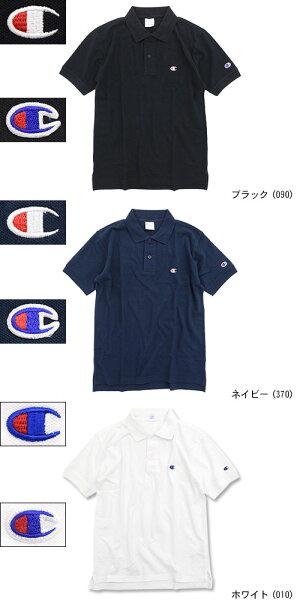 チャンピオンChampionポロシャツ半袖メンズC3-F356(ChampionC3-F356S/SPoloBASICベーシック日本企画無地ワンポイントCロゴCマーク鹿の子ピケポロ・シャツトップスメンズ男性用)