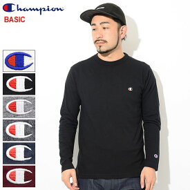 チャンピオン Champion Tシャツ 長袖 メンズ C3-P401 ( Champion C3-P401 L/S Tee BASIC ベーシック 日本企画 無地 ワンポイント Cロゴ Cマーク ティーシャツ T-SHIRTS カットソー トップス ロング ロンティー ロンt メンズ 男性用 )