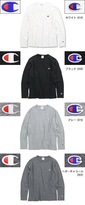 チャンピオンChampionTシャツ長袖メンズC3-P401(ChampionC3-P401L/STeeBASICベーシック日本企画無地ワンポイントCロゴCマークティーシャツT-SHIRTSカットソートップスロングロンティーロンtメンズ男性用)