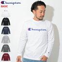 チャンピオン Champion Tシャツ 長袖 メンズ C3-Q401(Champion C3-Q401 L/S Tee BASIC ベーシック 日本企画 ワンポイント Cロゴ Cマーク ティーシャツ T-SHIRTS カットソー トップス ロング ロンティー ロンt メンズ 男性用)