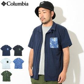 コロンビア Columbia シャツ 半袖 メンズ ポーラー パイオニア(columbia Polar Pioneer S/S Shirt オープンカラーシャツ トップス メンズ 男性用 Colombia Colonbia Colunbia PM6910) ice filed icefield