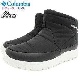 コロンビア Columbia ブーツ レディース & メンズ スピンリール ミニ ブーツ ウォータープルーフ オムニヒート Black ( columbia BOOT WATERPROOF OMNI-HEAT 保温 防水 スノーシューズ ウィンターブーツ ブラック 黒 LADIES MENS 靴 SHOES YU0277-010 )