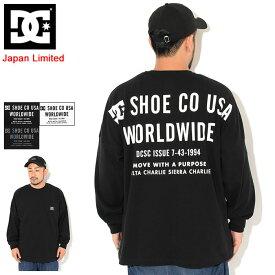ディーシー DC Tシャツ 長袖 メンズ バック プリント ドロップ 日本限定 ( dc Back Print Drop L/S Tee Japan Limited ビッグシルエット オーバーサイズ ティーシャツ T-SHIRTS カットソー トップス ロング ロンティー ロンt メンズ 男性用 5425J031 )