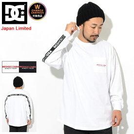 ディーシー DC Tシャツ 長袖 メンズ バックテープ 日本限定 ( dc Backtape L/S Tee Japan Limited ビッグシルエット オーバーサイズ ティーシャツ T-SHIRTS カットソー トップス ロング ロンティー ロンt メンズ 男性用 5425J931 )